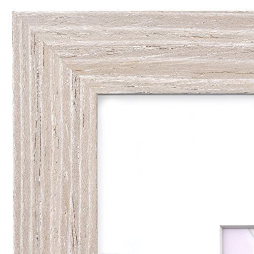 11x14 Picture Frame Barnwood Natural Oak - Matted to 8x10, Frames by EcoHome