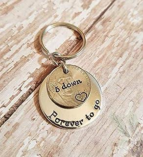 Amazon.com: QIIER Anniversary Keychain 5 Years of Marriage ...