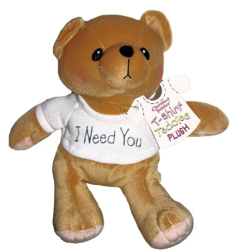 Cherished Teddies I Need You White T-shirt Plush Teddy Bear By Artist Priscilla Hillman # 505390 - 8 Inches Tall
