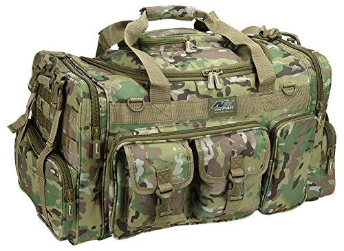 [Mens Large 26 Inch Duffel Duffle Multi Camo Military Molle Tactical Gear Shoulder Strap Travel Bag] (26