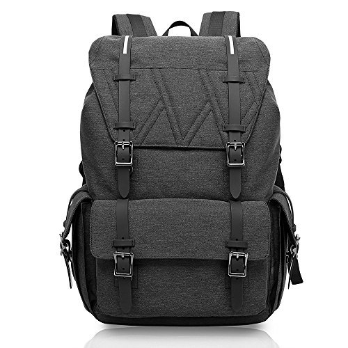AKASO KAKA Large Capacity Laptop Backpack, Water-Resistant Travel Pack School Bag Hiking Daypack for 15.6 Inch Laptop (Black)