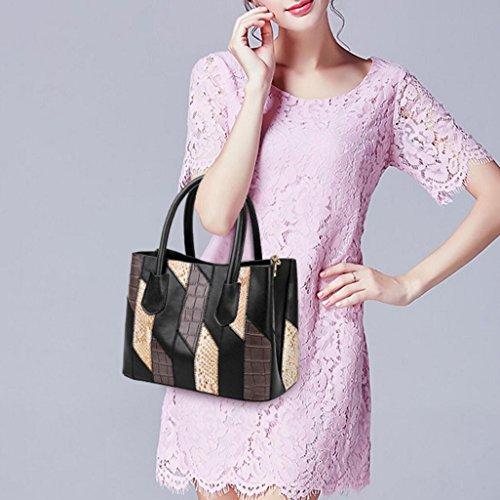1 Simple Women's Stitching Shoulder Bag Bag Oblique Pu qqYS0