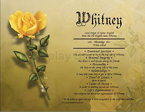 Amazon the yellow rose personalized any first name meaning the yellow rose personalized any first name meaning keepsake print 85quot x 11quot mightylinksfo