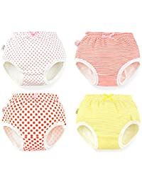 Baby Potty Toddler Toilet Training Pants 4 Pack Boby Girl Nappy Underwear Cloth Diaper - L