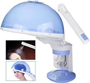 ZSH 2-in-1 Hair and Facial Steamer Face Steamer Humidifier Hot Mist Moisturizing Clear Blackheads Acne Facial Hydration Sauna SPA Skin Care Facial