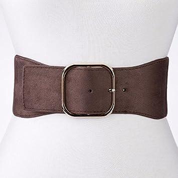 au printemps 2018 ceinture élastique femmes manteau robe pull décorés de largeur  sous gaine,brown 3c6bc6d5763