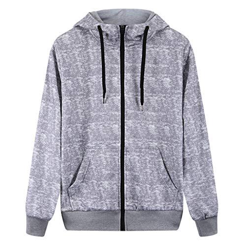 Printemps Sport lin Automne Manteau Manches Gris Capuche Zipper Outwear Impression Casual Grande Sweat Mode Longues Tops Taille À Day Hommes Pocket Veste wqOFxpxX