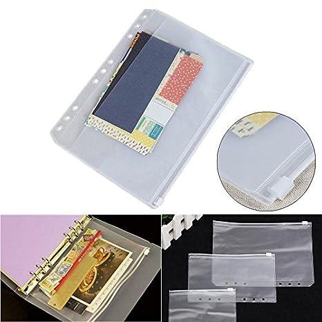 Amazon.com: A5 A6 A7 PVC transparente archivador pequeñas ...