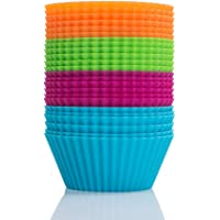 """Webake 24 Pack 2.8"""" Silicone Baking Cups Standard Size Muffin Cupcake Liners"""