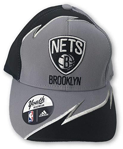 (Reebok Brooklyn Nets Boy's Structured Adjustable Hat Black)