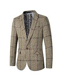 Beninos Men's Casual One Button Slim Fit Blazer Suit Jacket