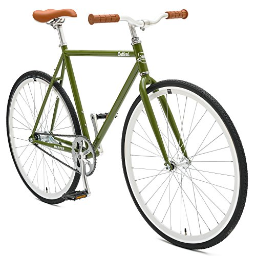 Cheapest Price! Critical Cycles Harper Coaster Fixie Style Single-Speed Commuter Bike with Foot Brak...