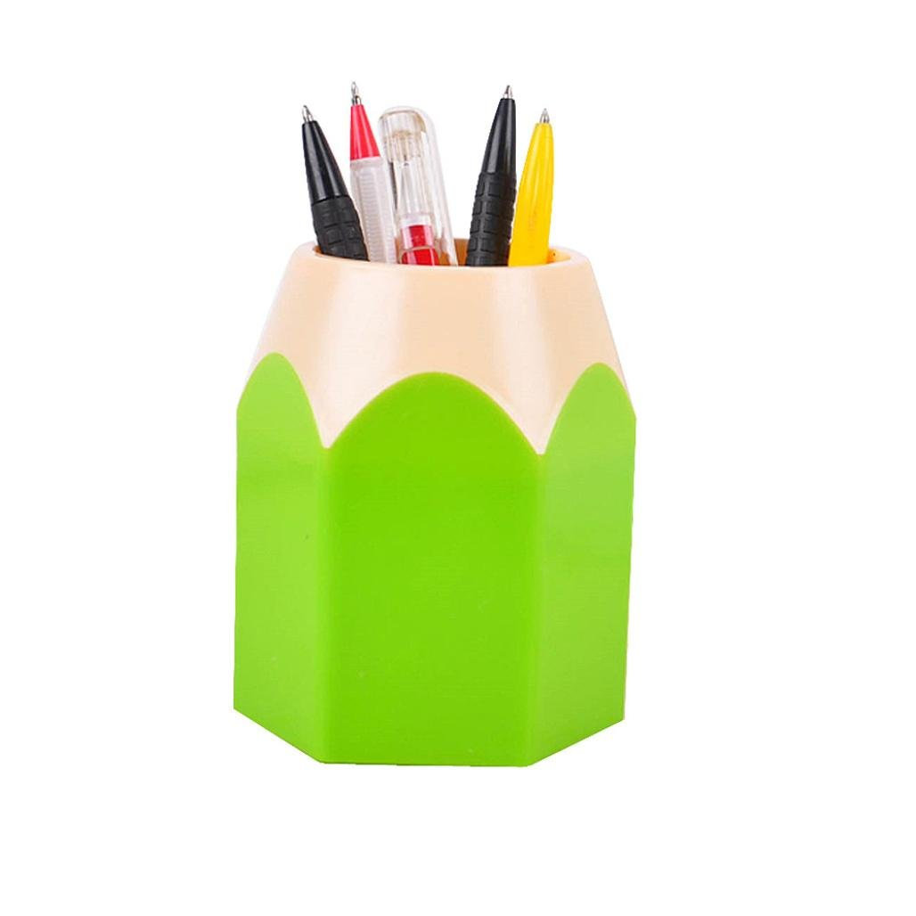 DZT1968® Pen&Pencil Makeup Brush Holders Desk Storage Organizer Office Supplies (Green)