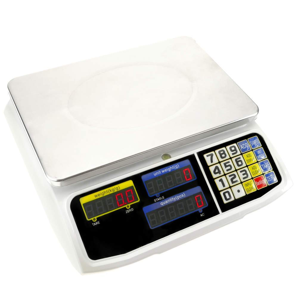 PrimeMatik - Balanza mostrador de sobremesa con Bandeja de 300x205 mm Báscula de Tienda de 6 Kg: Amazon.es: Electrónica