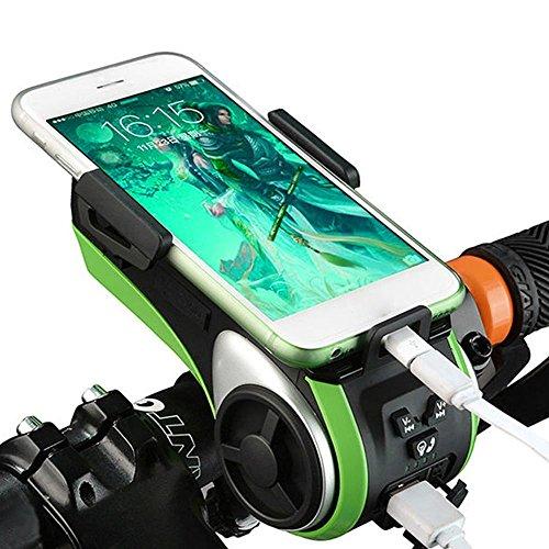 Bike Mount, elecguru 10in 1Bike Lautsprecher Autohalterung Bluetooth Telefon beantworten Audio MP3Player Phone Ladegerät Fahrrad LED Light Micro SD Karte/USB Slot AUX Eingang Wasserdicht schwarz schwarz