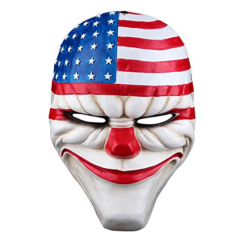OLSUS Payday 2 The Heist Dallas Resin Mask Heist Joker Costume Cosplay Props -