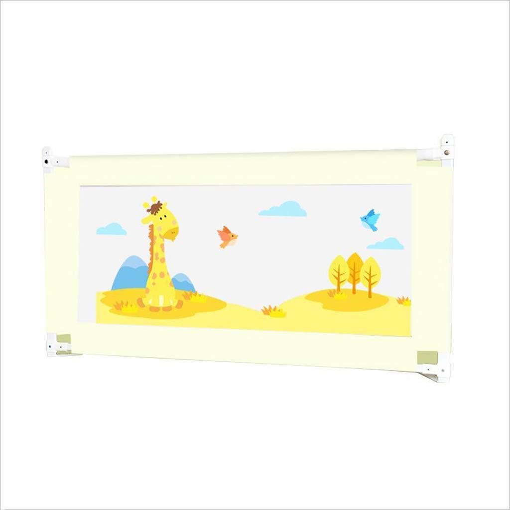 PENGJUN ベッドガードレール転倒防止子供垂直昇降ベッドガードレールベッドバッフル150 cm、180 cm、200 cm (色 : ベージュ, サイズ さいず : 1.8m) 1.8m ベージュ B07GZYHWZY