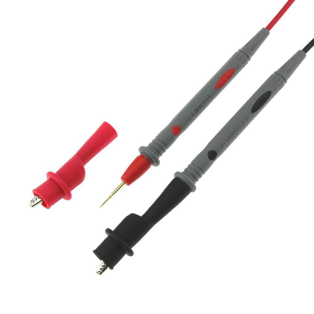 Uokoki PT1005 1000V 10A num/érique universel Multim/ètre sonde Fils de test Pin pointe de laiguille multi Testeur plomb sonde fil Pen C/âble
