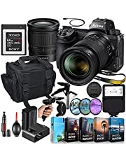 Nikon Z7II Mirrorless Digital Camera with 24-70mm Lens MFR #1656 + 64GB XQD High Speed Memory + Slave Flash, Padded Shoulder Bag, Grip Tripod, HD Filters, Video/Photo Editing Software Package & More