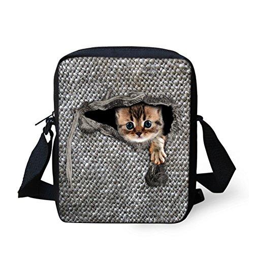 Mini Body Bag Adjustable 1 Small Shoulder CHAQLIN Messenger w Cross cat Strap EnwSqC7xz