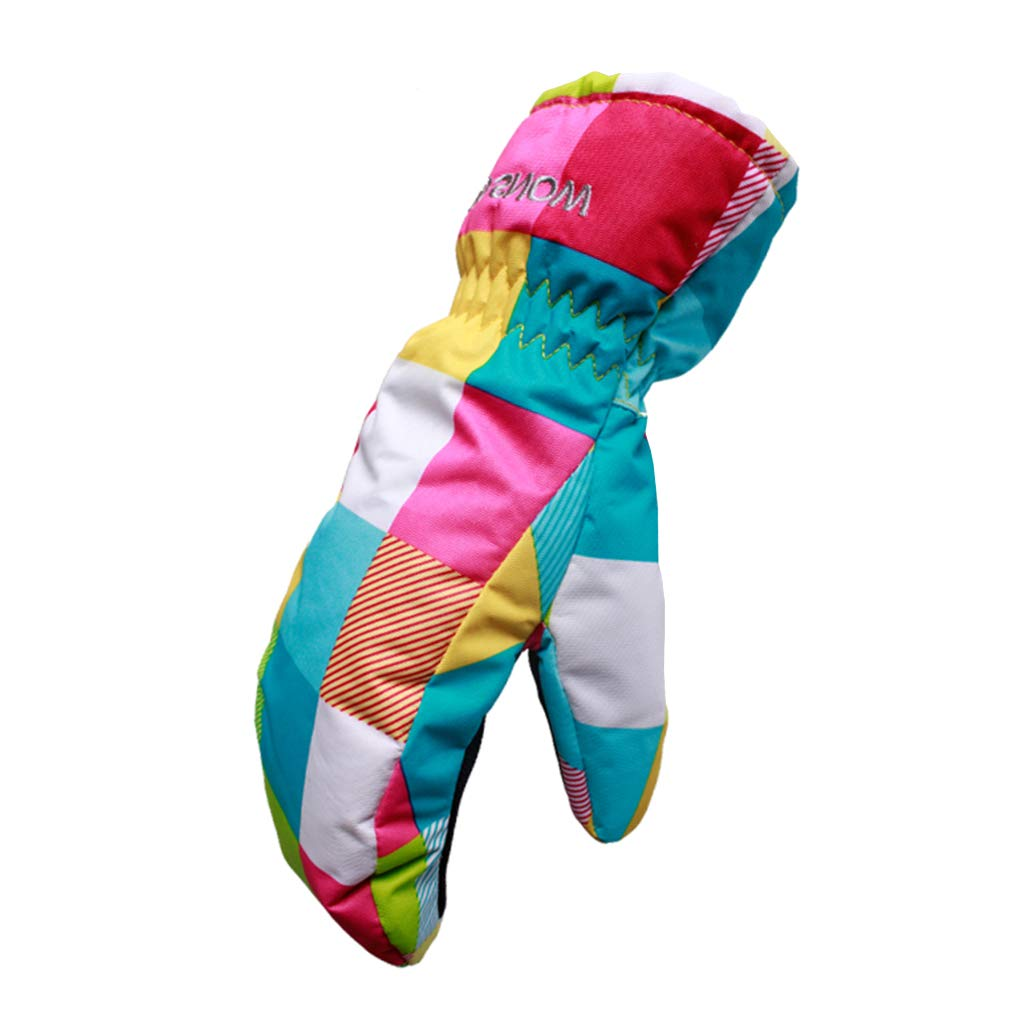 Gogokids Kids Ski Mittens - Boys Girls Winter Warm Waterproof Windproof Gloves for Skiing, Snowboard, Cycling, Green M SDW Trading Co. LTD