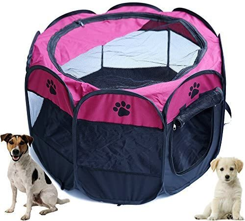 HORING Dog playpens Large, Pen Kennel for Dogs Puppy Cats Rabbits Small Animals, Portable Pets Tent Indoor Outdoor
