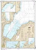 NOAA Chart 14863: Saginaw Bay; Port Austin Harbor; Caseville Harbor 34.7 x 47.2 (TRADITIONAL PAPER) offers