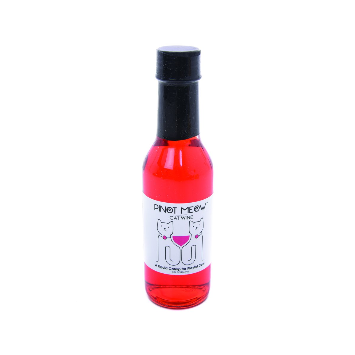 Apollo Peak Pinot Meow Cat Wine Gift Glass Bottle 5 Meownces