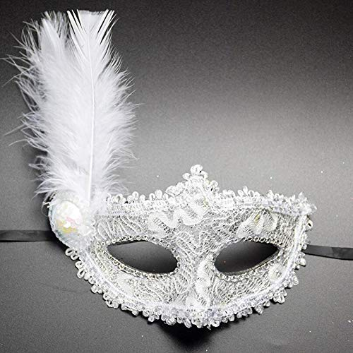 Lace Eye Mask - 1pc E Beauty Women Sexy Feather Crown Lace Eye Mask Masquerade Fancy Costumes Party Multicolor - Lace Masquerade Mask Party Masks Mask Masquerade Tapestry Pineapple Fancy Hea