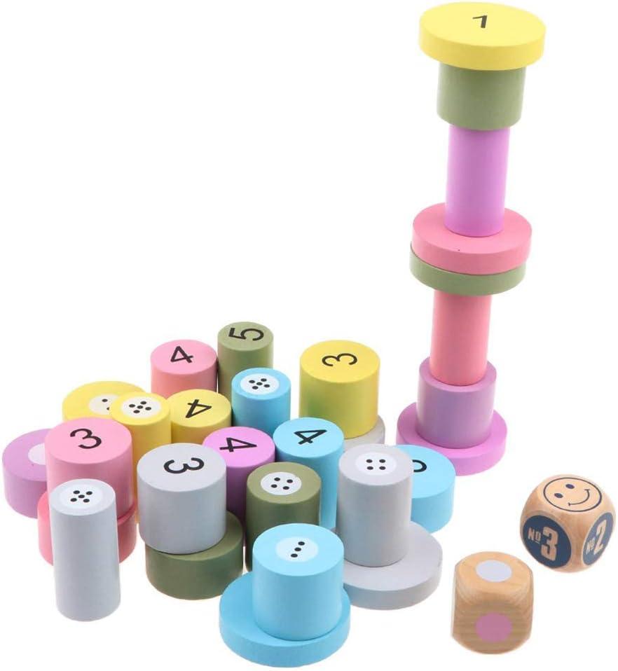 GKPLY Juguetes de Bloques de Madera Matemáticas y Aprendizaje de Colores Juguetes Jenga Números para niños Juguetes para niños Juegos de Mesa para Adultos: Amazon.es: Deportes y aire libre