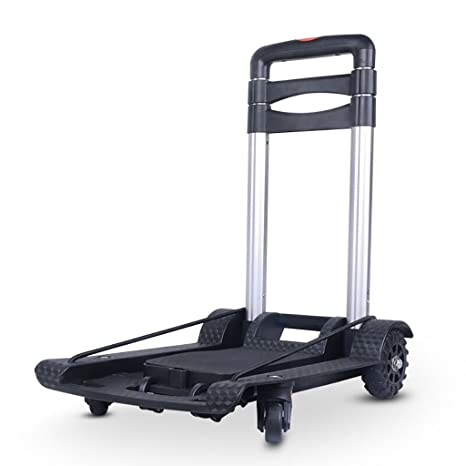 Fkdebag Carrito de Compras Carro de la Compra Plegable Trolley Aluminio Comestibles Compras Equipaje Carga 30kg