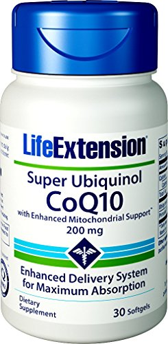 Life Extension Super Ubiquinol CoQ10 with Enhanced Mitochondrial Support, 200mg, 30 Softgels by Life Extension