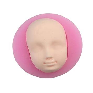 3d molde de silicona Visage BJD muñecas cabeza DIY Chocolate molde fondant herramientas de decoración de pastel: Amazon.es: Hogar