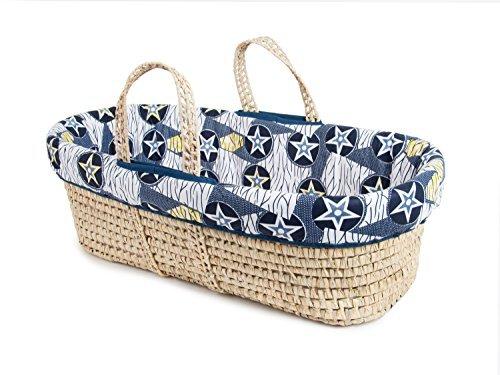 Tadpoles Moses Basket and Bedding Set, Blue Star [並行輸入品]   B07GFKJTL3