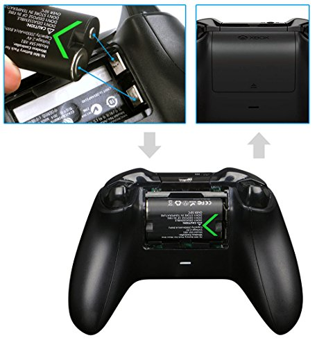 Smatree Rechargeable Battery Compatible for Xbox One/Xbox One S/Xbox One X/Xbox One Elite Wireless Controller, 3 Pack… 6