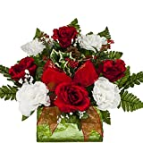 Red Rose Carnation with Berries and Pinecones Sale
