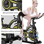 LJMG-Spin-Bike-Ultra-Quiet-Fitness-Bike-Ciclismo-Indoor-Bicicletta-da-Casa-Spinning-Palestra-Bicicletta-Sport-Attrezzature-per-Il-Fitness-Cardio-Trainer-Color-Yellow-Size-115-51-110cm