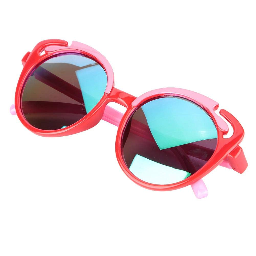Baby polarisierte Sonnenbrille Weiche Silica Gel Sonnenbrille UV-Schutz f/ür Kleinkinder Flexible Baby Vintage Brille Pink C3