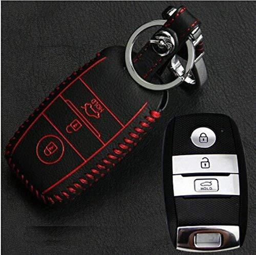 Car Smart Key wallet car genuine leather key cover leather key cases for 2016 KIA Optima K5 Sportage Auto Key Rings