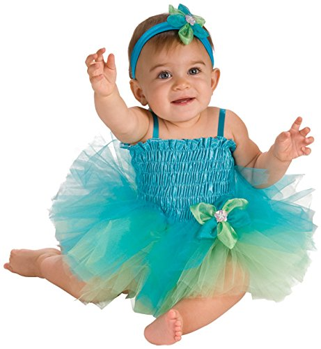 Rubie's Costume Co Baby Girl's Infant Blue and Green Tutu Costume, Multi, One Size (Green Fairy Dress)