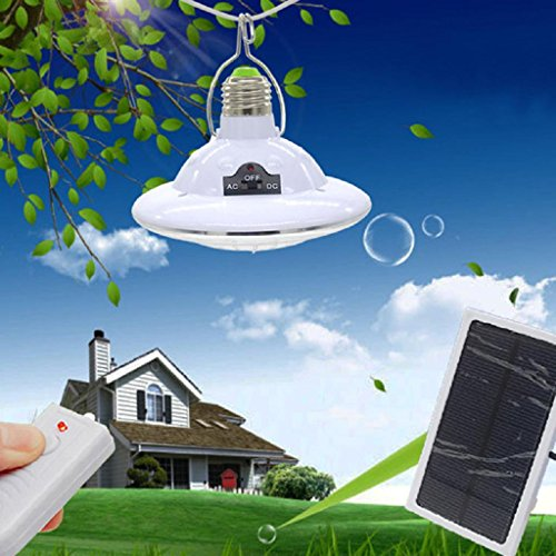 LIYUDL 22 LED Solar Powered Light Portable Camping Tent U...