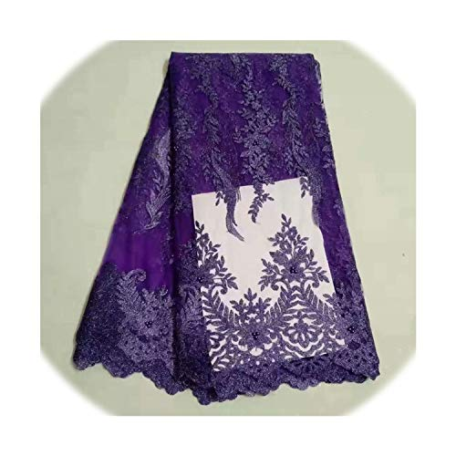 Laser Cotton Swiss Polish Lace Fabric for Men Soft Nigerian Eyelet Cloth Fabric 5 Yards Embroidered Voile Swiss Lace,5