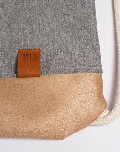 Gymbag Daypack Casual Drawstring Sports Wood Wood Manufaktur13 Grey Vagabond Rough Bag Bag wF0Rqx