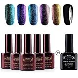 Perfect Summer 3D Holographic Chameleon Colors Changes 10ml Gel Nail Polish UV/LED Soak Off Nail Lacquers Creative French Manicure Art
