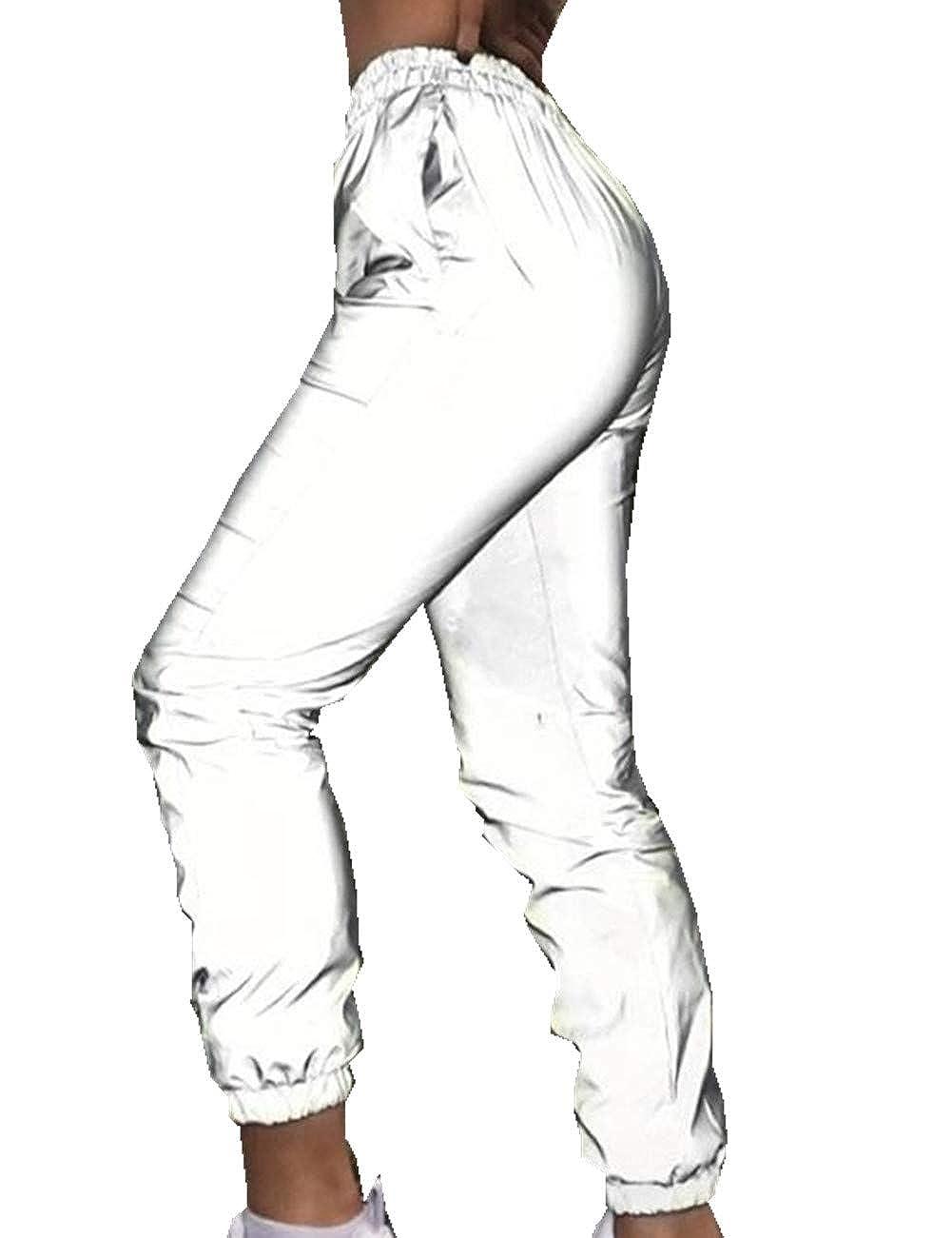 discover latest trends online for sale enjoy discount price TXR Women Flash 3m Reflective Jogger Hip Hop Harem Pants ...