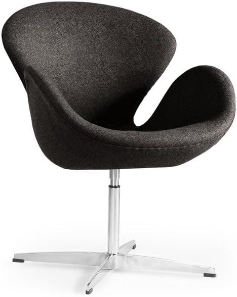 Kardiel Swan Chair, Charcoal Tweed Cashmere Wool