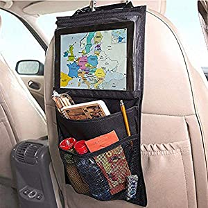 Lpfkkk Car storage organizer backseat Truck Back Seat Chair Multi Pocket Auto Storage Bag WithTouch Screen Film