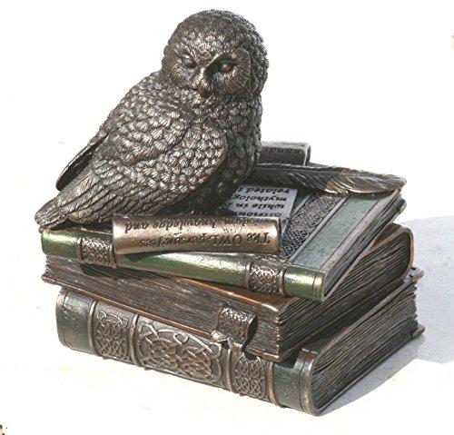 - Veronese Owl of Athena Statue Sculpture Symbol of Wisdom Stash Box Bronze Finish 4.7