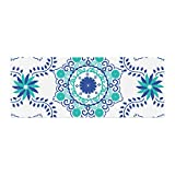 Kess InHouse Anneline Sophia Let's Dance Blue Teal Aqua Bed Runner, 34'' x 86''