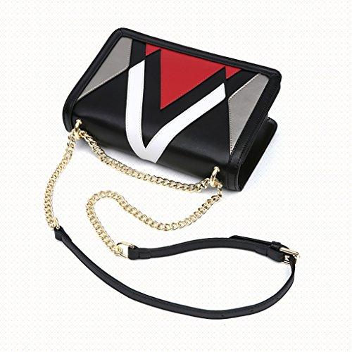 Bandoulière Sac Women's Tendance Sac Cuir Diagonale Petit bags à carré Sac Sac en Mode Chaîne rH8H4wxUvq
